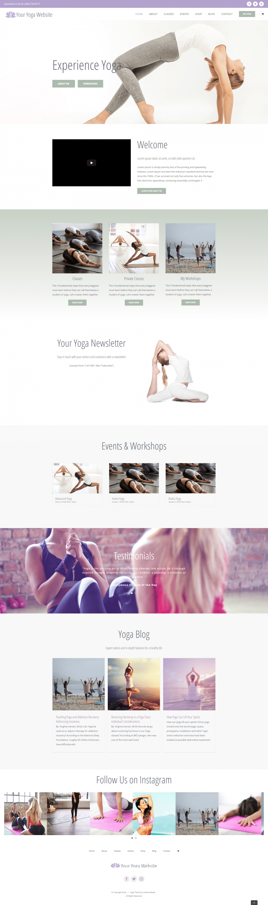 Stunning Yoga Website Design